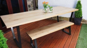 Solid-Oak--Steel-Loop-Leg-Bench-(2)